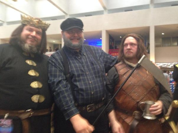 GRRM with two of his deceased characters. Ha!