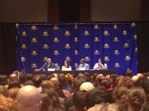 Look a blurry photo of a panel!